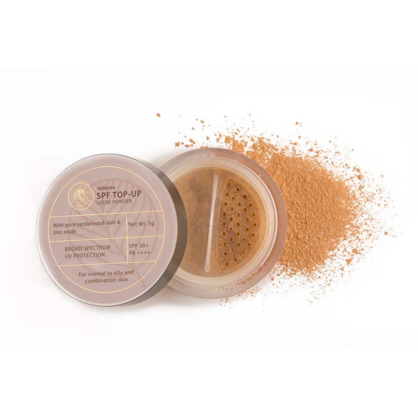 This is an image of Sandiva Spf Top-up Loose Powder With Sandalwood on www.sublimelife.in