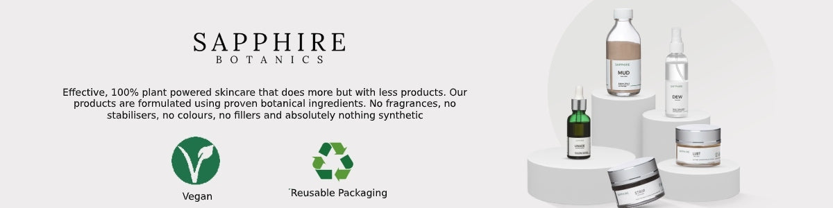 Shop best plant-based, vegan skincare products with the purest natural ingredients from Sapphire Botanics on SublimeLife.in.