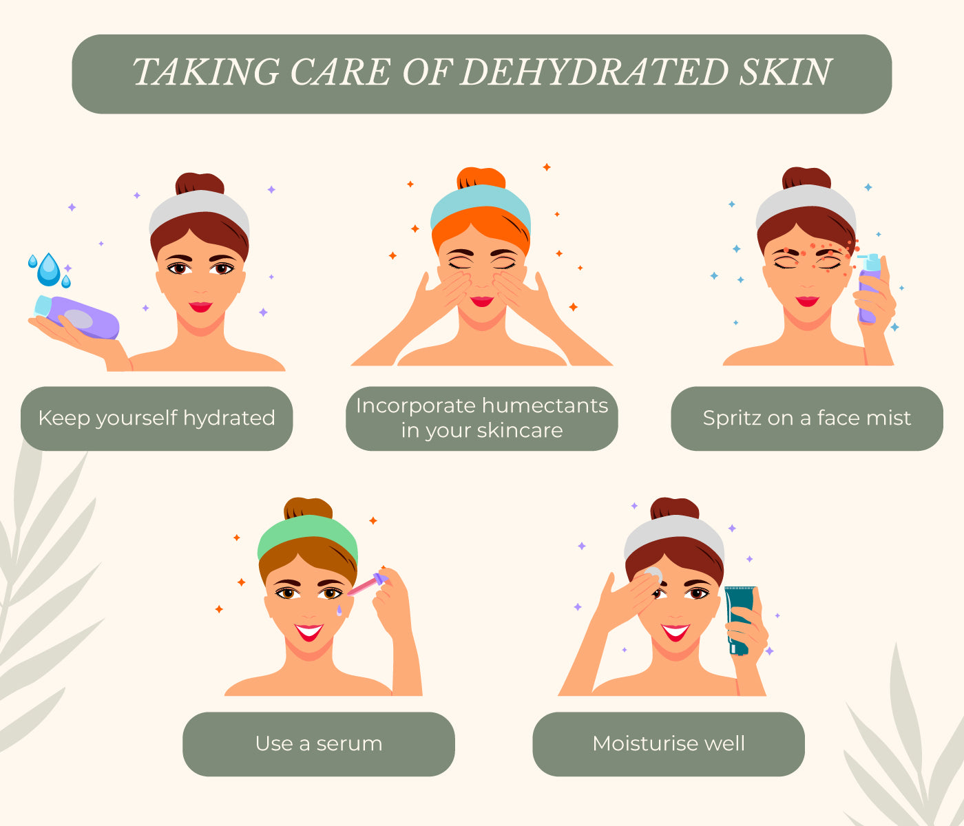This is an image of taking care of dehydrated skin on www.sublimelife.in.