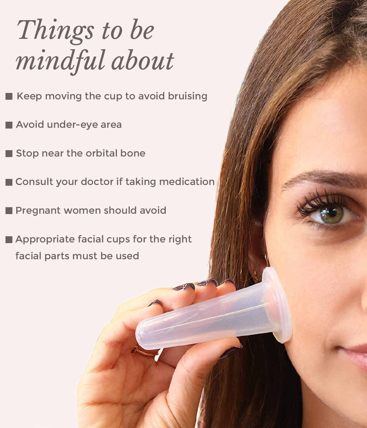 This is an image of things to be mindful of facial cupping on www.sublimelife.in
