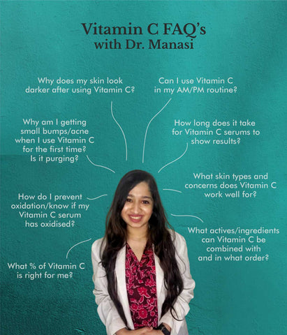 This is an image of Vitamin C questions answered by a Dermat on www.sublimelife.in