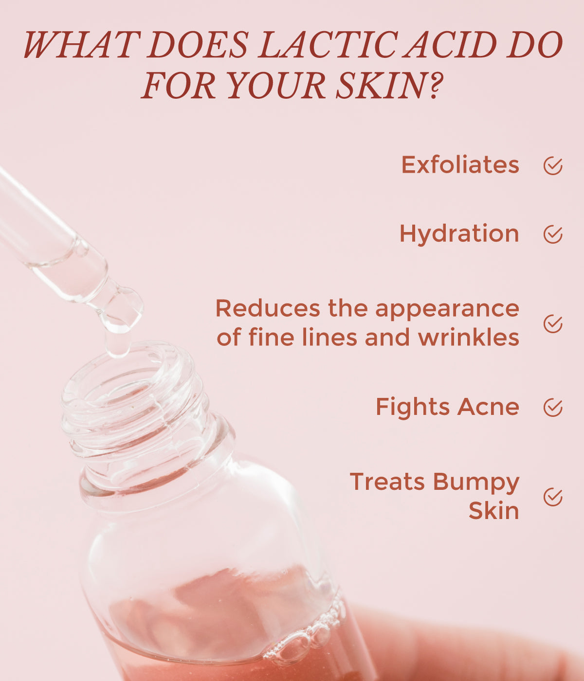 This is a image of what Lactic Acid does to your skin on www.sublimelife.in