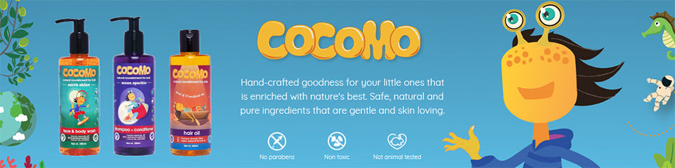 Shop for safe and toxin-free skin/hair care products for kids from Cocomo on SublimeLife.in.