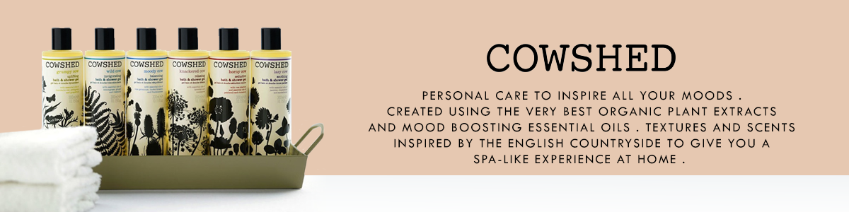 Shop for organic & 100% natural body lotions, shower gels, hand creams, shampoos & more from Cowshed on SublimeLife.in.