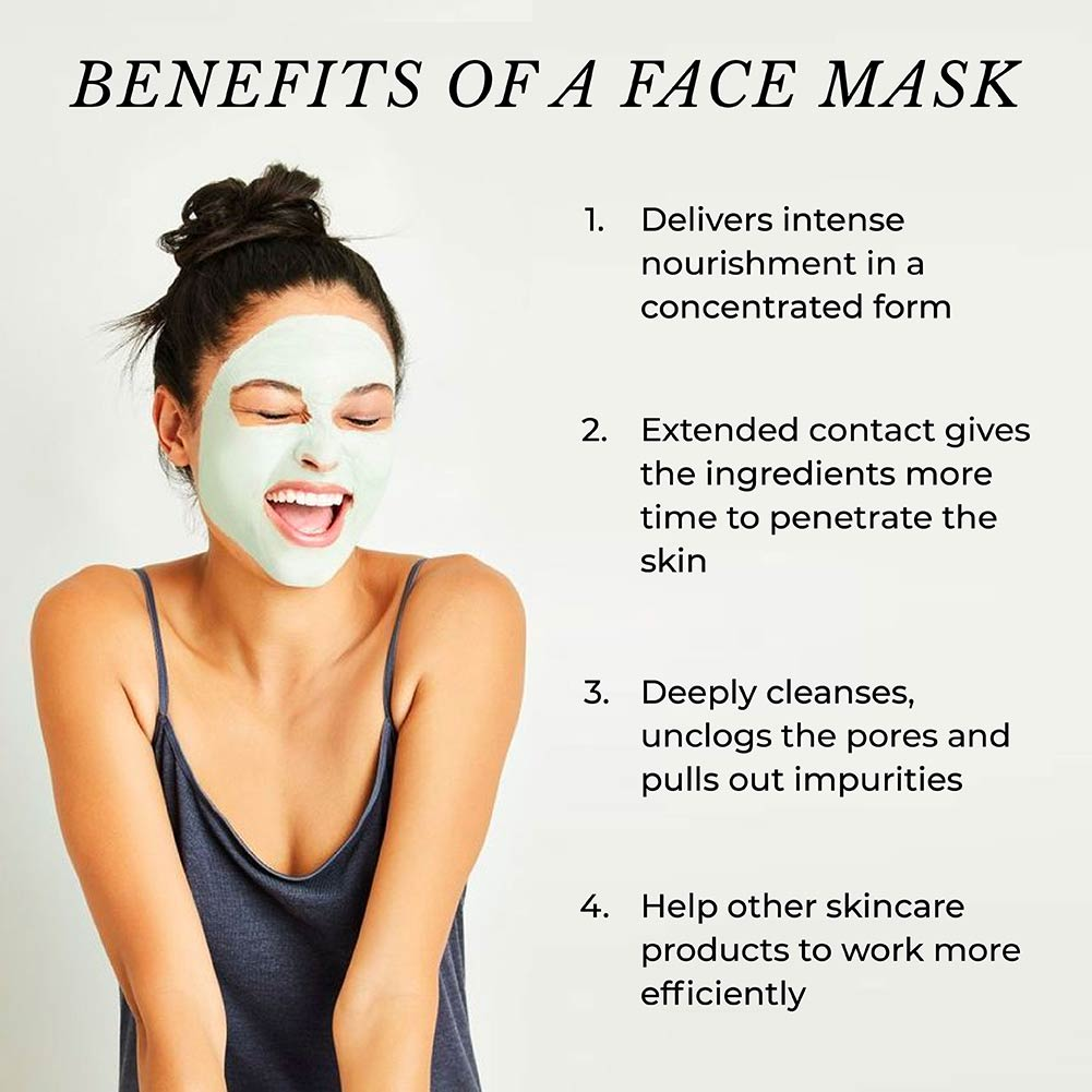 This image shows the benefits of Face Masks.