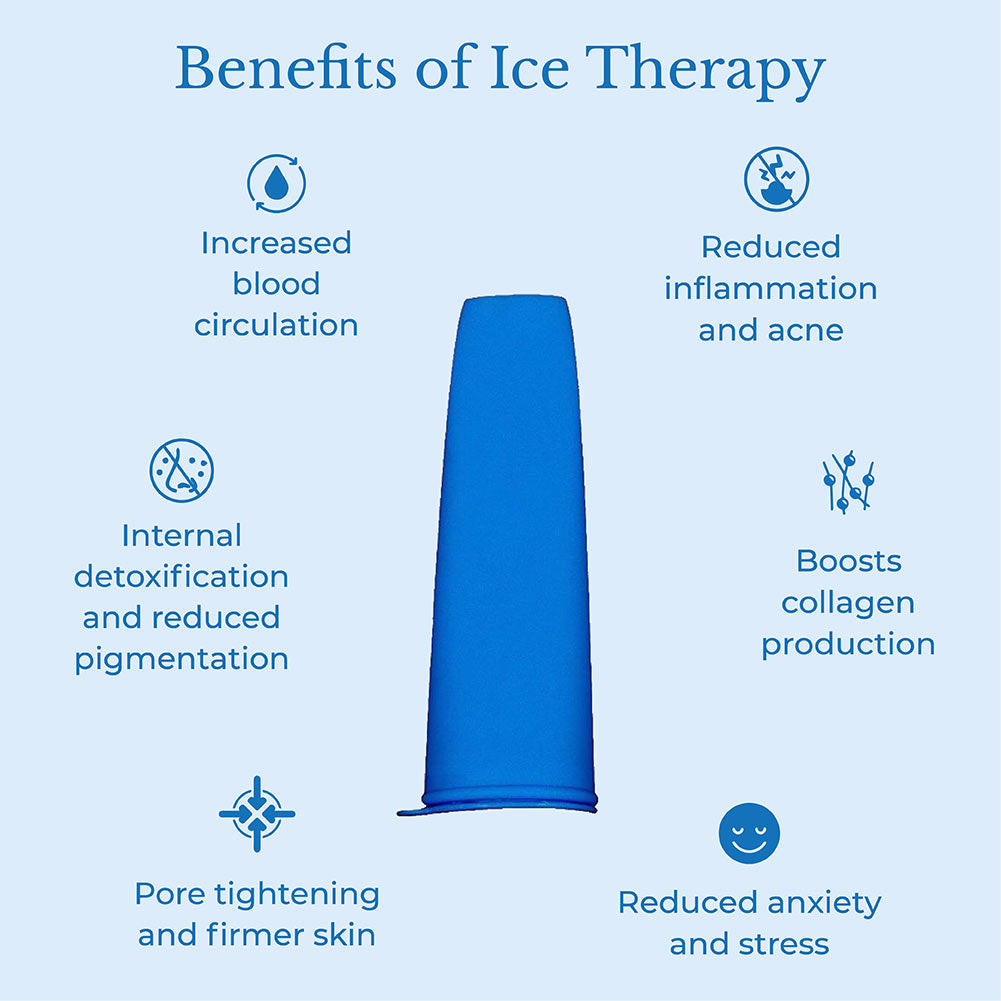 This image shows the benefits of using ice roller for the face from the brand Isa Beauty