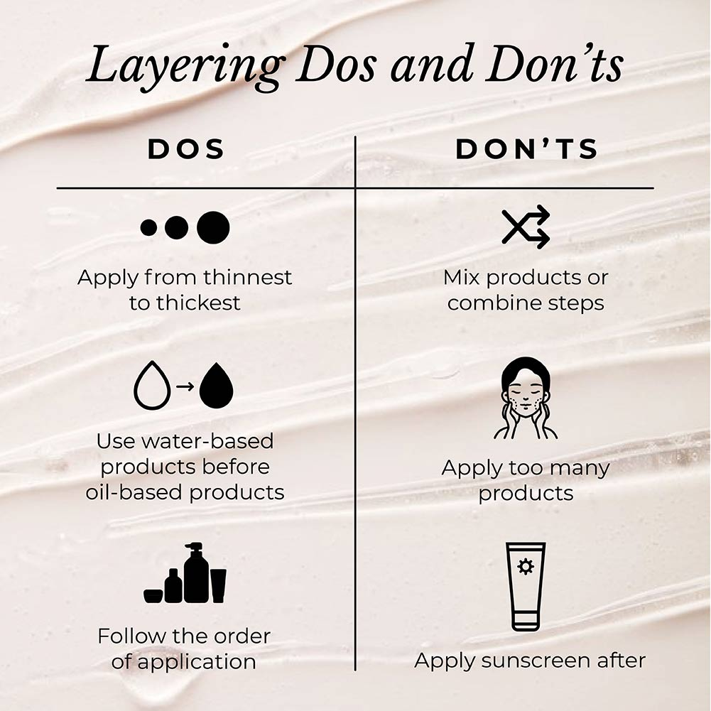 This image depicts the Do's and Don'ts of layering