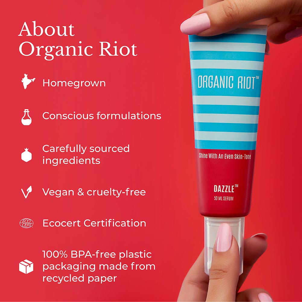 This image informs us about the brand Organic Riot