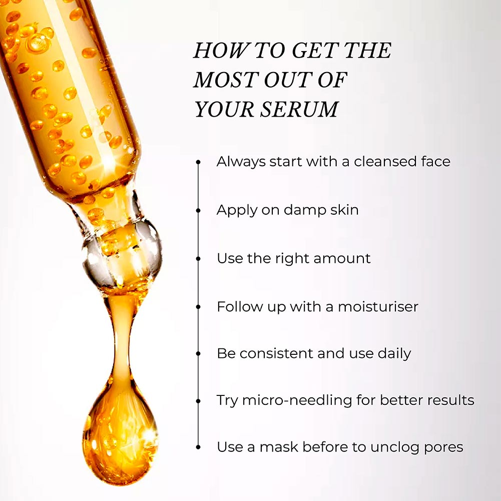 This is an image of different ways to get the most out of your serums.