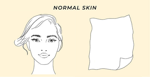 This is the skin type test result for normal skin