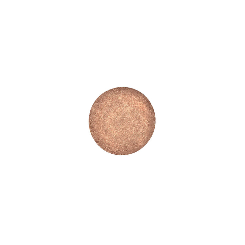 This is an image of Gold Highlighter/Loose Eyeshadow-Stellar from Ruby's Organics on SublimeLife.in. It is made from nourishing clays like kaolin and lanolin