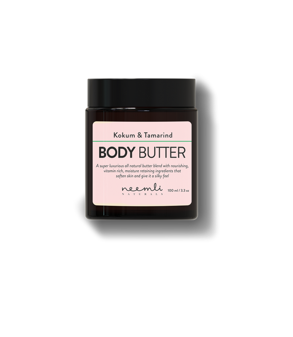 This is an image of Kokum & Tamarind Body Butter from  Neemli Naturals on SublimeLife.in. Moisturing and nourishing body butter that relieves itching.