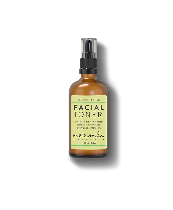Shop Witch Hazel & Vetiver Facial Toner from Neemli Naturals on SublimeLife.in. Best for hydrating and clarifying pores.