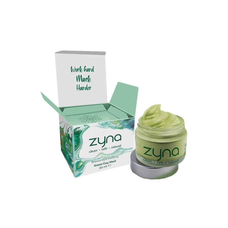Shop Green Clay Mask from Zyna on SublimeLife.in. Best for deep cleansing, detoxification and perfects pores.
