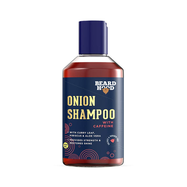 Shop  Onion Shampoo from Beardhood on SublimeLife.in. Best for fighting hair problems like dryness, hair fall, frizzy hair.