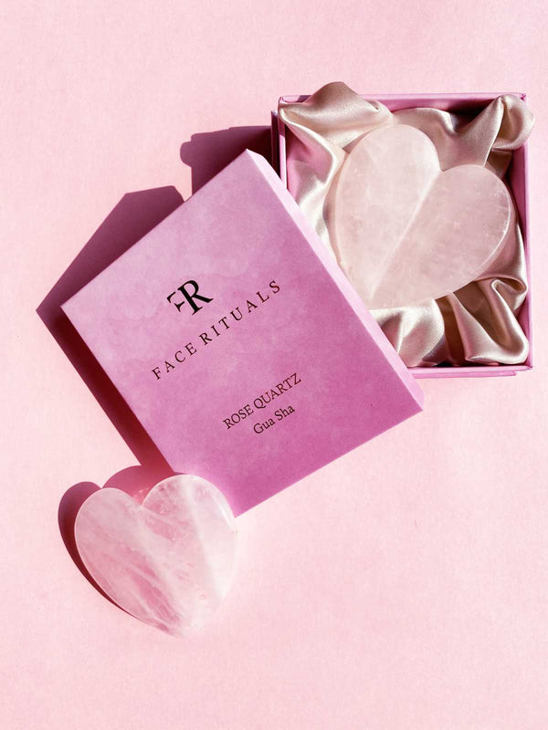 Rose Quartz Heart shape Gua Sha