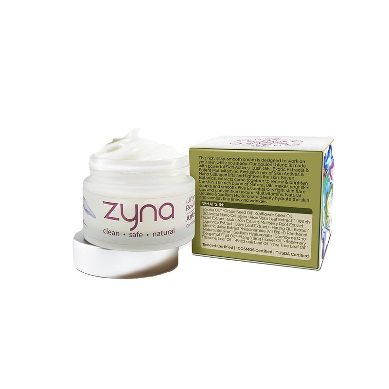 Shop Lifting & Revitalising Anti-Aging Cream from Zyna on SublimeLife.in. Best for a youthful look and tightens the skin.