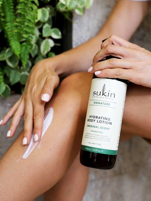 Shop Hydrating Body Lotion from Sukin on SublimeLife.in. Best for nourishing the skin's moisture barrier.