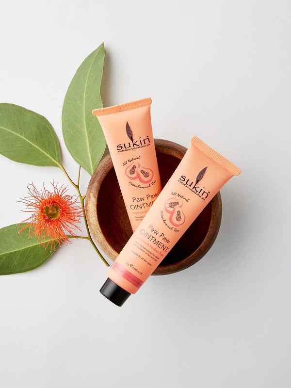 Shop Paw Paw (Papaya) Lip Balm from Sukin on SublimeLife.in. Best for reducing itchiness and redness.
