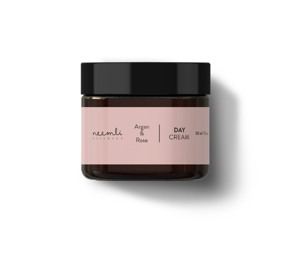 This is an image of Argan & Rose Day Cream from Neemli Naturals on SublimeLife.in. Brightening day cream.