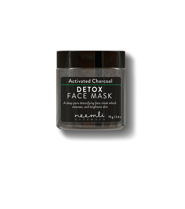 This is an image of Activated Charcoal Detox Face Mask from Neemli Naturals on SublimeLife.in. Beautifying and skin softening clay mask.