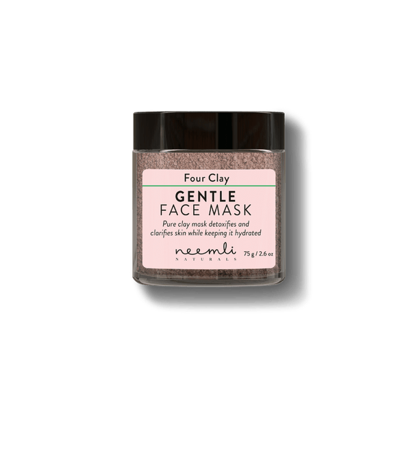 This is an image of Four Clay Gentle Face Mask from Neemli Naturals on SublimeLife.in. Detoxifies and clarifies skin complexion.