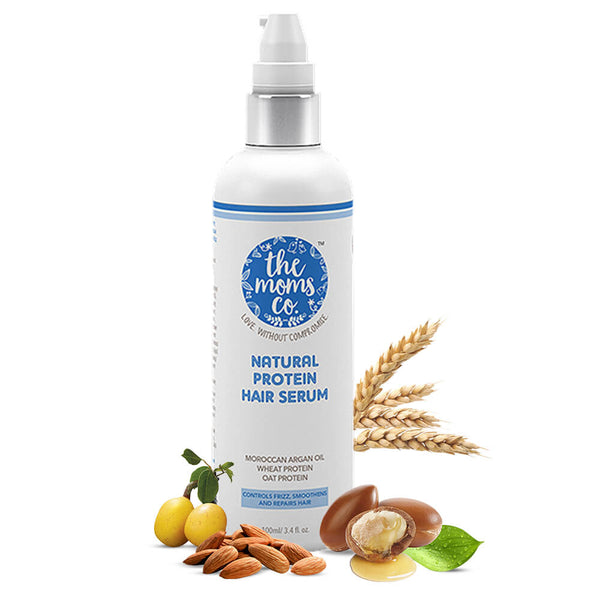 Shop Natural Protein Hair Serum from The Mom's Co on SublimeLife.in. Best for protecting, repairing and smoothening hair.