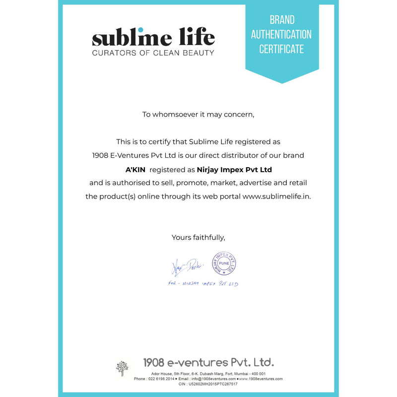Shop Akin's Natural Certified Organic Rosehip Oil from Sublime Life. Suitable for sensitive skin.