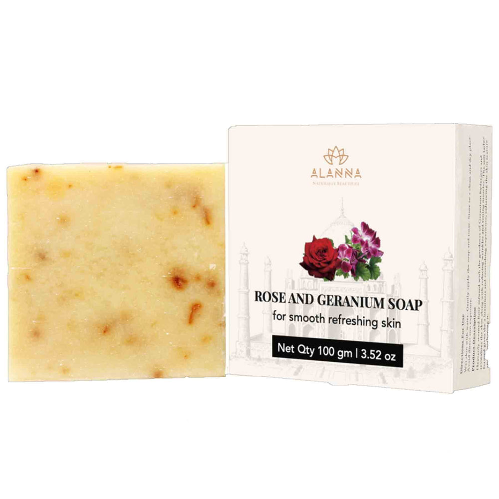 This is an image of Alanna Rose & Geranium Soap on www.sublimelife.in
