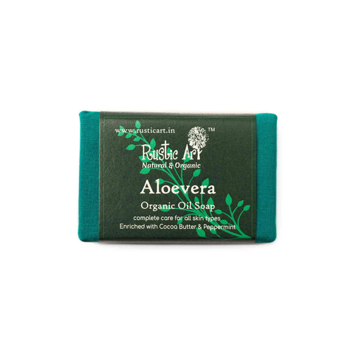 This is an image of Aloe Vera Soap from Rustic Art on www.sublimelife.in.