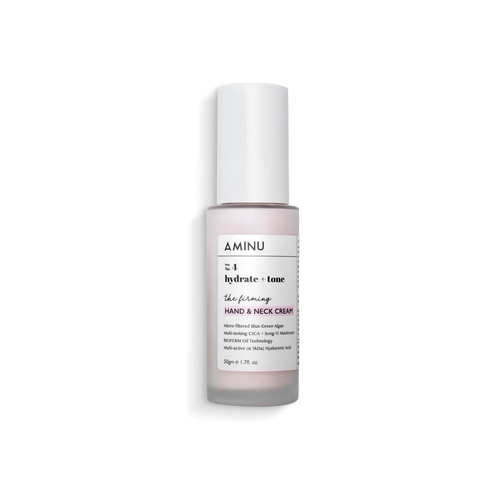 This is an image of Aminu Firming Hand & Neck Cream on www.sublimelife.in
