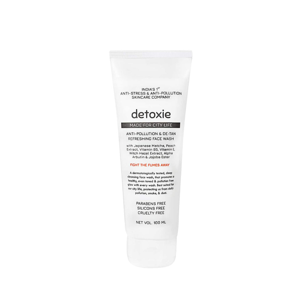 This is an image of Detoxie Anti-Pollution & De-Tan Refreshing Face Wash on www.sublimelife.in