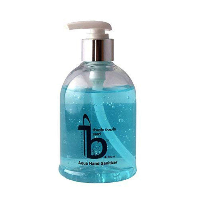 This is an image of Aqua hand sanitiser from Be The Solution on www.sublimelife.in.
