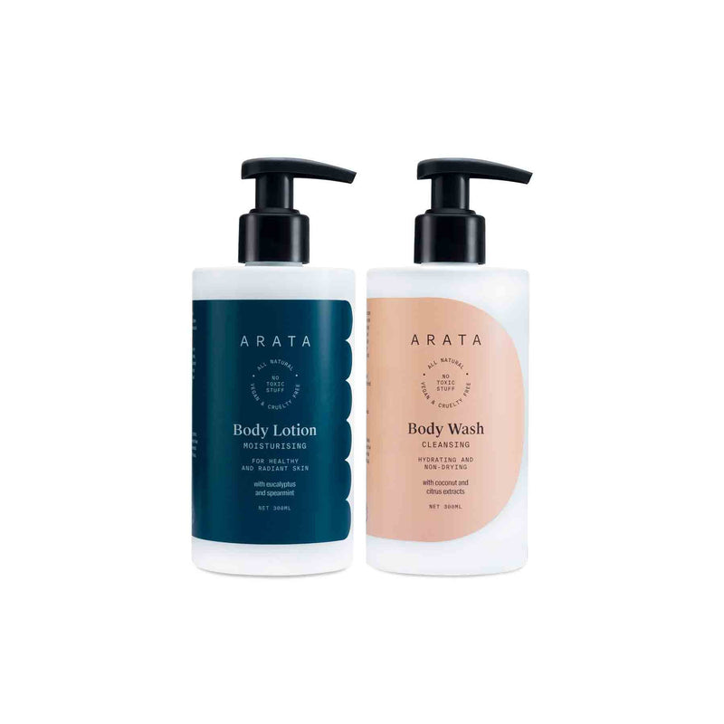 Shop Arata Body Care Set from Sublime Life for deep cleansing experience.
