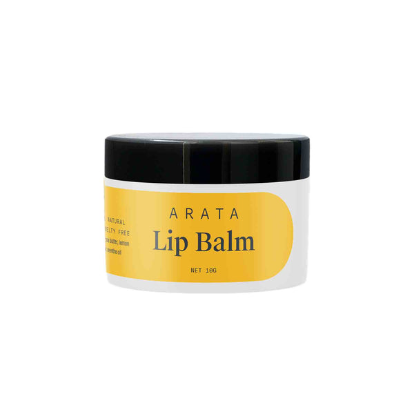 Shop Arata Natural Lip Balm with Cocoa & Mango Butter from Sublime Life. Suitable for dry and chapped lips.