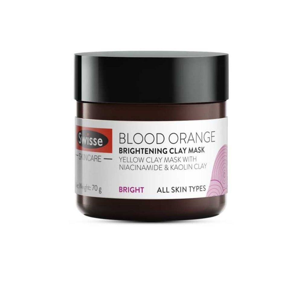 This is a image of Swisse's Blood Orange Brightening Clay Mask at www.sublimelife.in
