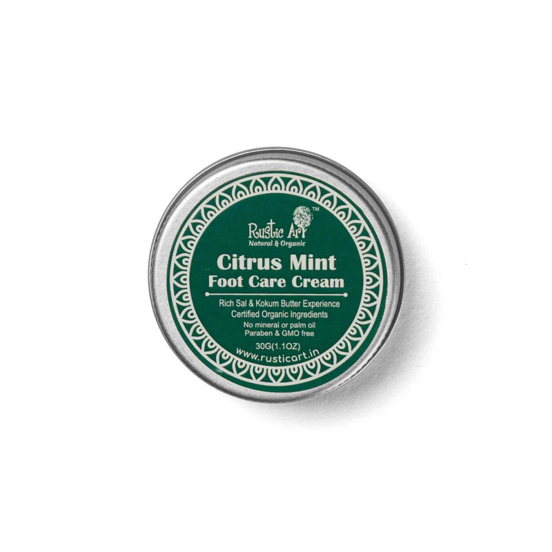 Shop Citrus Mint Foot Care Cream from Rustic Art on SublimeLife.in. Best for moisturising your feet and keeping them happy.