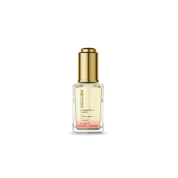 This is an image of Immortal Youth Face Oil from Coccoon on SublimeLife.in. Works effectively to keep wrinkles and fine lines at bay.