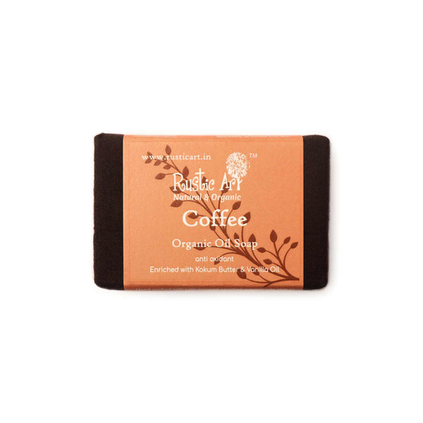 Shop Coffee Soap from Rustic Art on SublimeLife.in. Best for reducing the dark circles and balances skin contours.