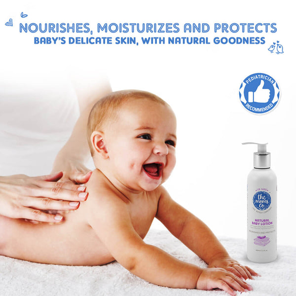 Shop Natural Baby Lotion from The Mom's Co on SublimeLife.in. Best for keeping your baby's skin soft.