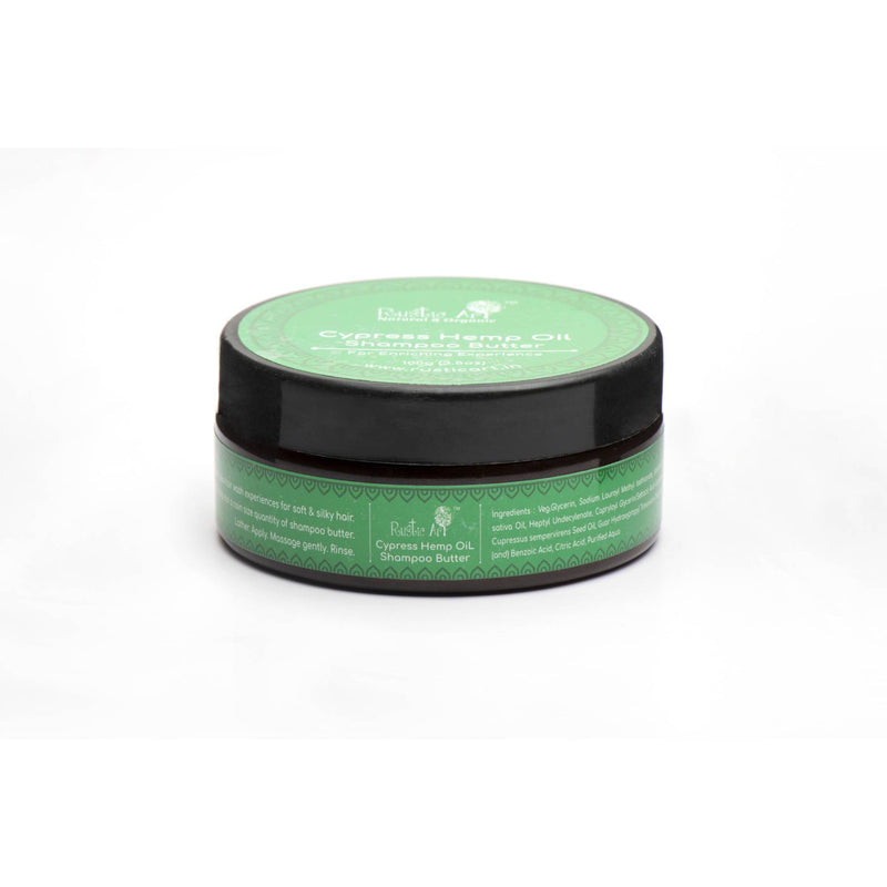 Shop Cypress Hemp Oil Shampoo Butter from Rustic Art on SublimeLife.in. Best for moisturising and hydrating your scalp.