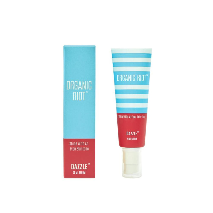 this is an image of organic riot dazzle anti pigmentation serum on sublimelife.in
