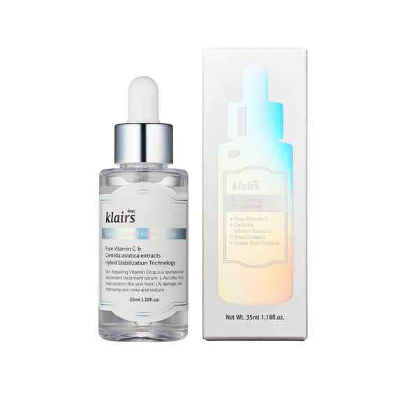 Shop Freshly Juiced Vitamin C Drop from Dear, Klairs on SublimeLife.in. Best for acne issues, pigmentation and skin tone.