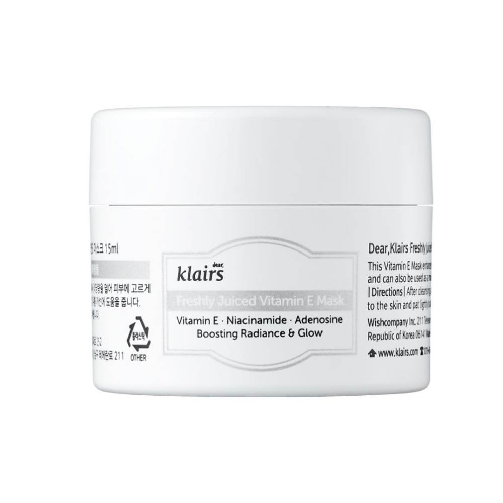 This is an image of Dear. Klairs Freshly Juiced Vitamin E Mask Mini on www.sublimelife.in