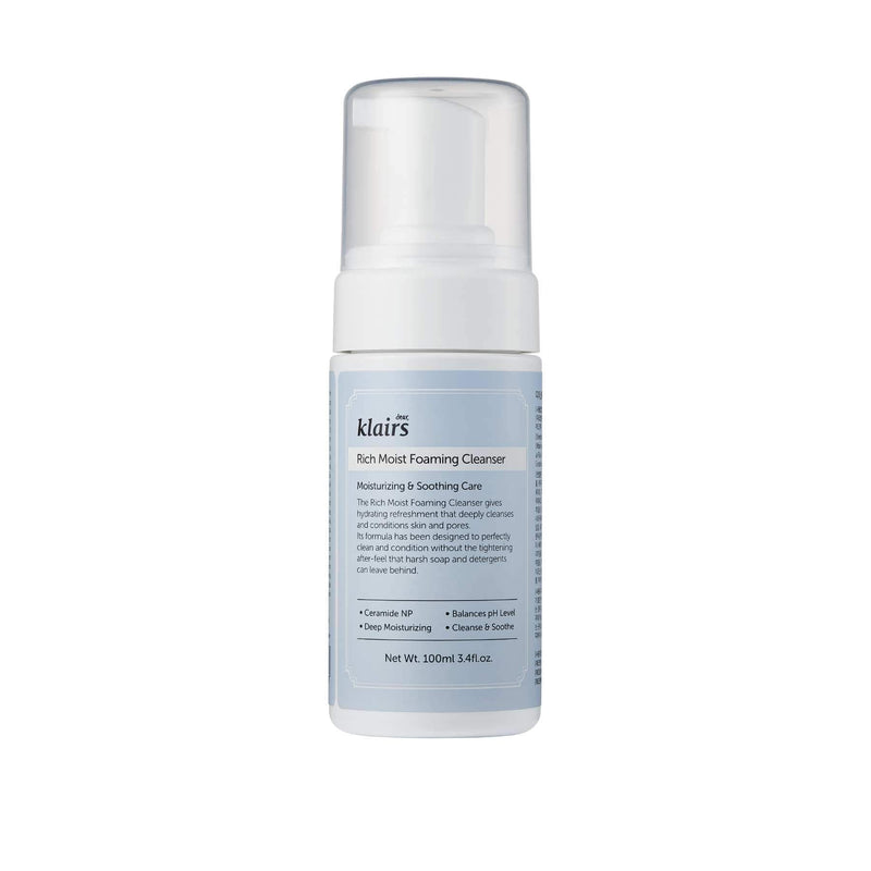 Shop Rich Moist Foaming Cleanser from Dear, Klairs on SublimeLife.in. Best for deep cleansing of pores.