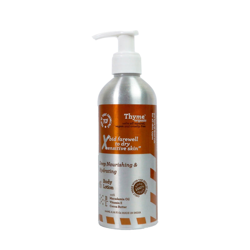 Shop Deep Nourishing & Hydrating Body Lotion from Thyme Organic on SublimeLife.in. Best for  deeply nourishing your skin.