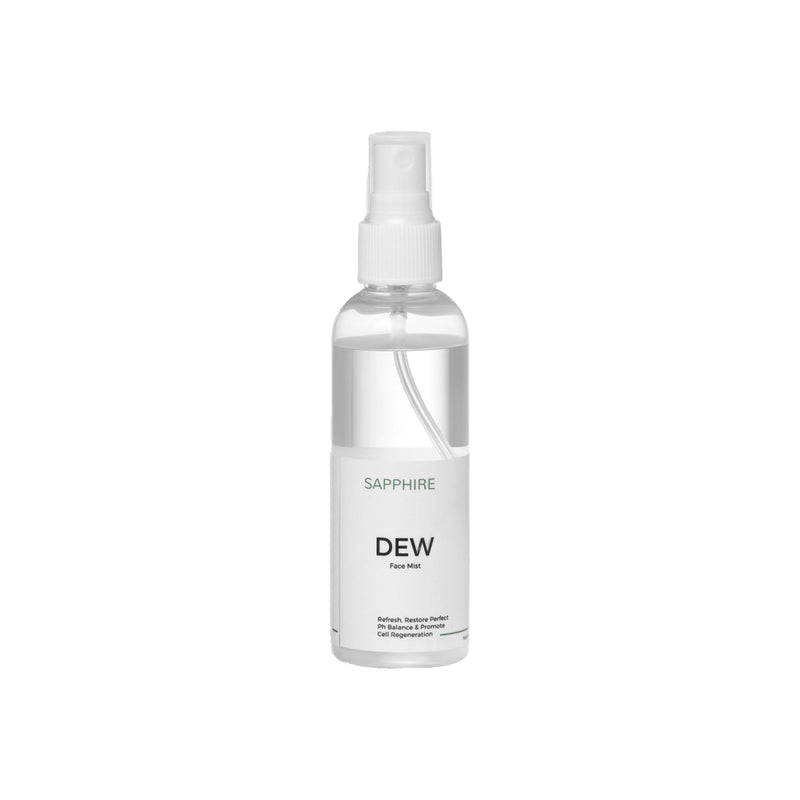 Shop Dew - Floral Face Mist from Sapphire Botanics on SublimeLife.in. Best for tightening skin, and fine lines and wrinkles.