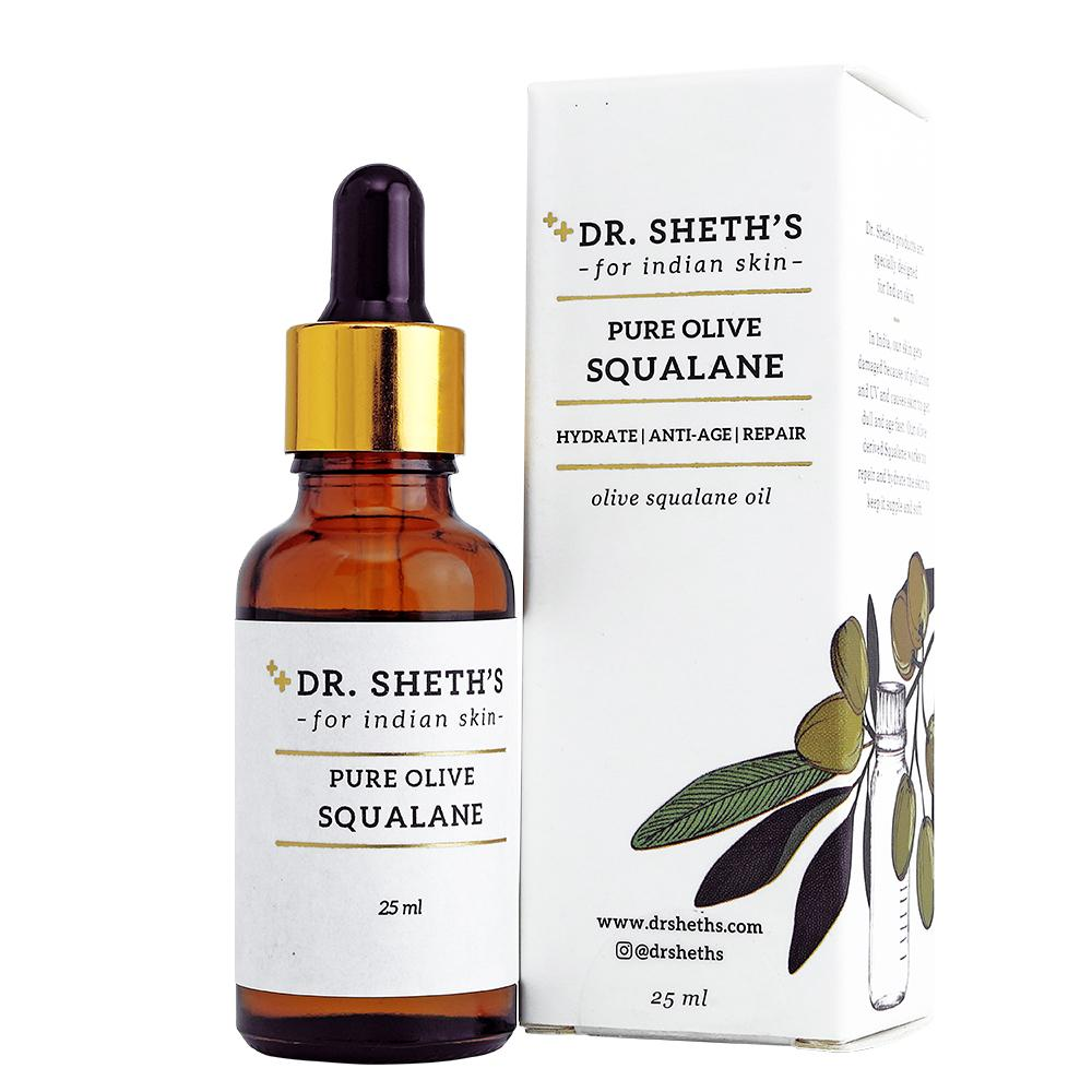 This is an image of  Dr Sheth's Pure Olive Squalane on www.sublimelife.in