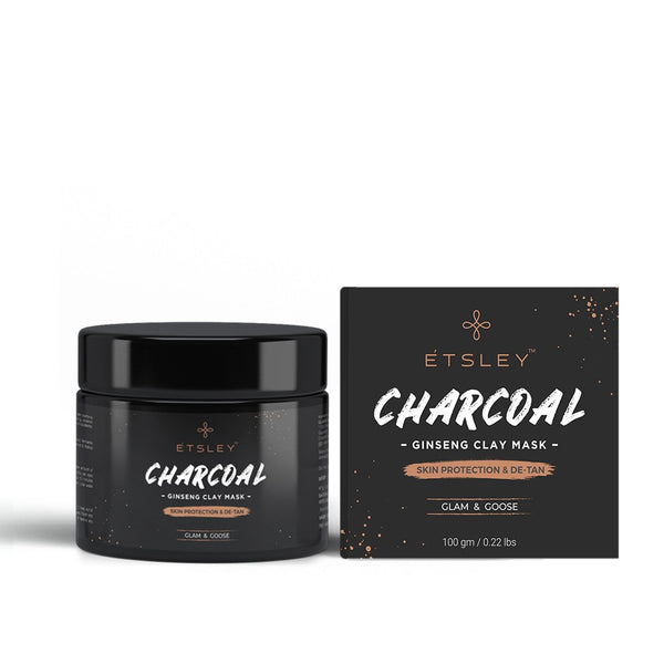 Etsley | Charcoal Ginseng Clay Mask-Skin Protection and Detan