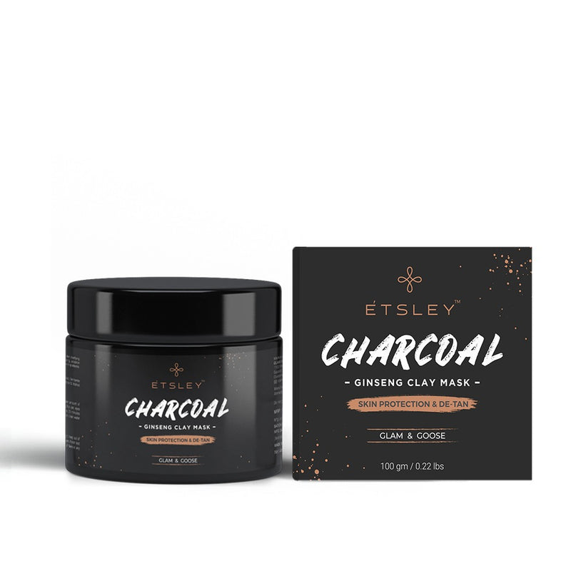 This is an image of Charcoal Ginseng Clay Mask from Etsley on SublimeLife.in. Clears clogged Pores, blackheads, oiliness, blemishes and improves complexion.